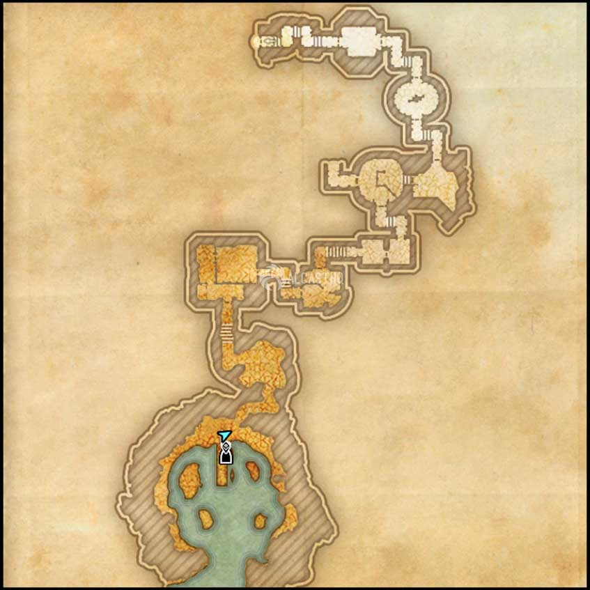 Icereach map 1 ESO Dungeon Harrowstorm DLC
