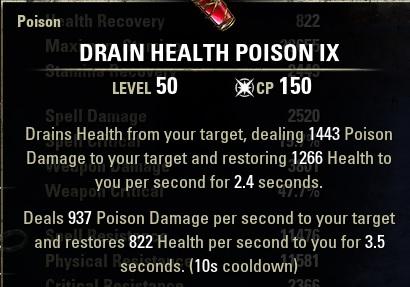 Drain Health Poisons ESO