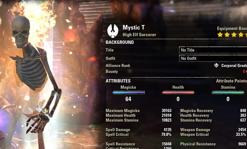 Magicka Sorcerer pve dps build pets META buffed stats ESO