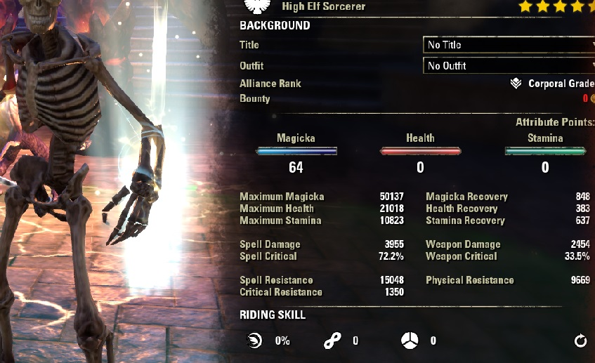 Pet Sorcerer pve dps heavy attack build buffed stats ESO