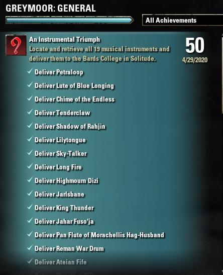 ESO Instrumental Triumph Achievement 1