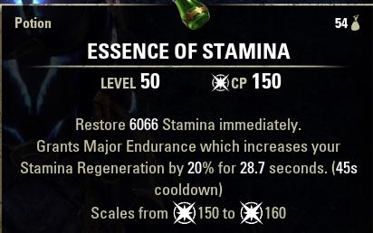 Essence of Stamina Potion ESO