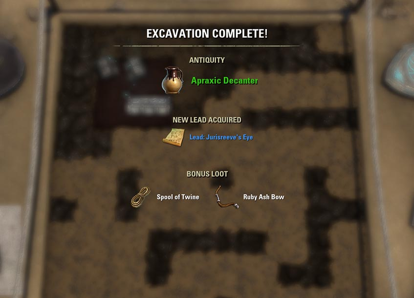 Excavation Process Items Loot ESO