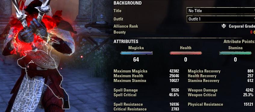 Magicka Nightblade Bomb Build PvP stats buffed