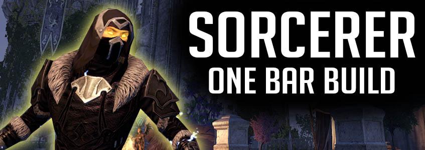 Sorcerer One Bar Build Banner ESO