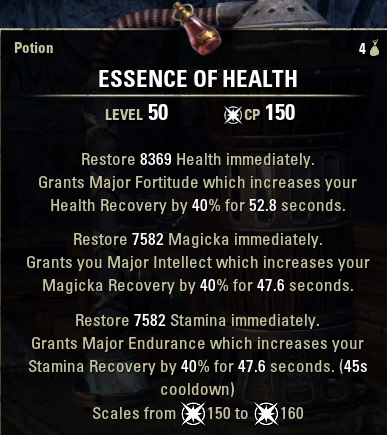 Tri-Stat Potions new ESO