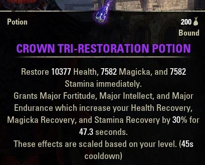 Crown Tri-Restoration Potion ESO