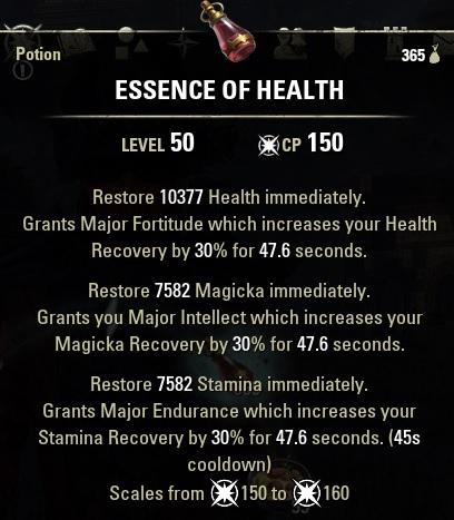 Essence of Health Potion ESO