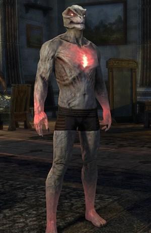 Reanimated Vampiric Thrall Skin argonian form ESO