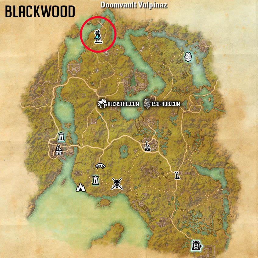 Mirri Companion Location Map Blackwood ESO