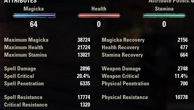 Nightblade Healer Build unbuffed stats ESO30