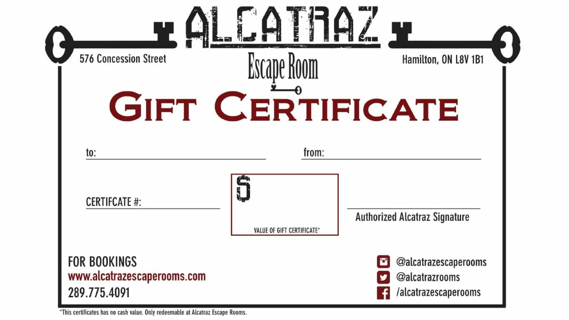 Gift cards alcatraz escape rooms gift cards yelopaper Choice Image