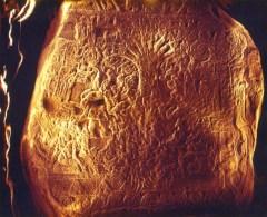 """Supuesto """"Árbol de la Vida"""" o Ceiba en la Estela 5 de Izapa, Chiapas, entre el 300 a.C. y el 300 d.C."""