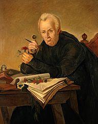Retrato de José Celestino Mutis por R. Cristobal