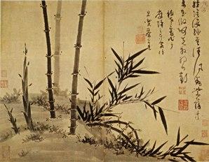 Bambú en primavera, Wu Zhen, siglo XIV