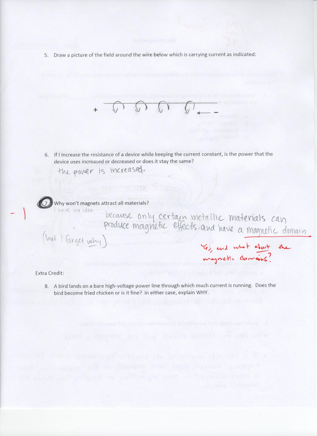 Pwhs Electromagnetism Quiz 4 Grades