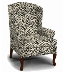 I have a reclining wing back in zebra print and one in leopard print. Perfect for whatever mood I happen to be in