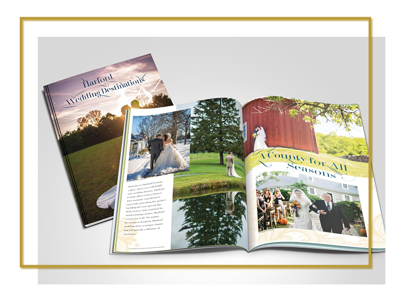 Harford County Weddings, Destination Tourism Guide, Publication Design