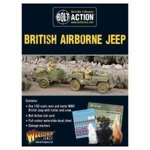 British Airborne Jeep & Trailer