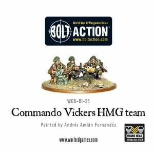British Commando Vickers MMG Team