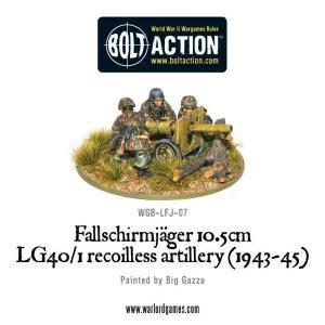 Fallschirmjager 10.5cm LG40/1 recoilless artillery (1943-45)