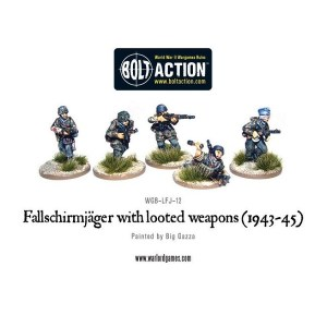 Fallschirmjager with looted weapons (1943-45)
