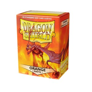 Dragon Shield Sleeves Matte Orange 100