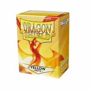 Dragon Shield Sleeves Matte Yellow 100