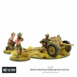 Afrika Korps Pak 36 light anti-tank gun
