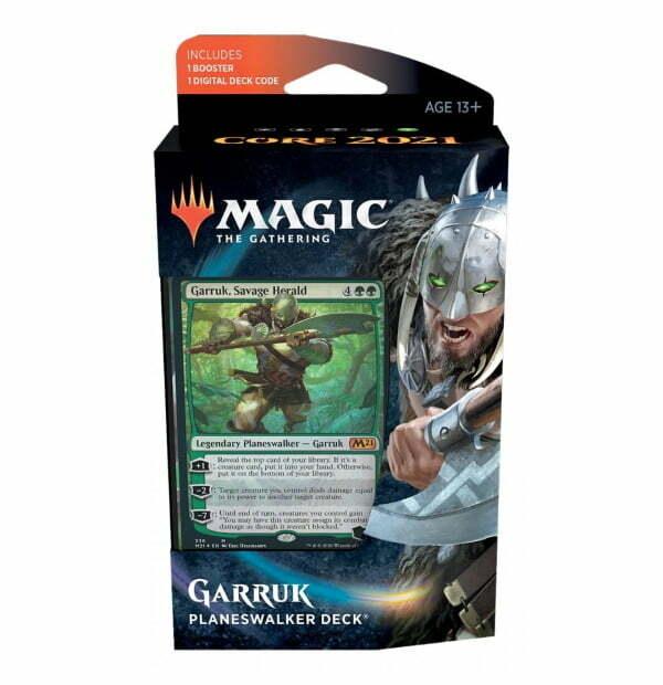 Magic the Gathering: Core Set 2021 Garruk Planeswalker Deck