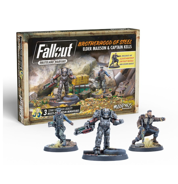 Fallout: Wasteland Warfare - Brotherhood of Steel Elder Maxon and Captain Kells