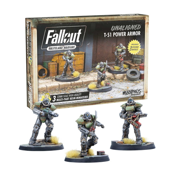 Fallout: Wasteland Warfare - Unaligned T-51 Power Armour