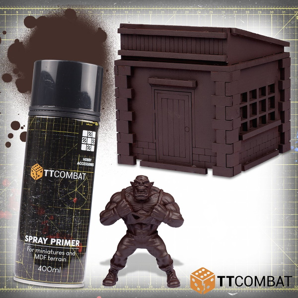 Laser Cut Brown Spray Primer