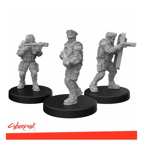 Cyberpunk RED Miniatures - Lawmen A