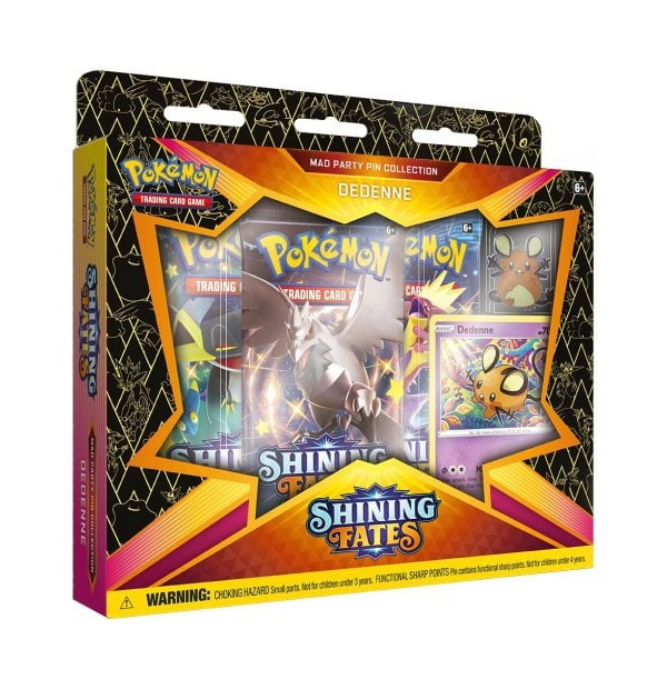 Pokémon Trading Card Game: Shining Fates Dedenne Mad Party Pin Collection