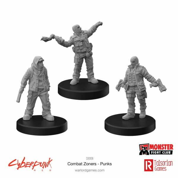 Cyberpunk RED Miniatures – Combat Zoners B