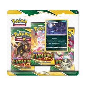Pokémon Trading Card Game: Sword and Shield - Evolving Skies 3 Pack Blister Umbreon