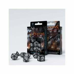 Dragons Black & white Dice Set (7)