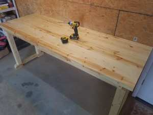 Pine Workbench - Finished