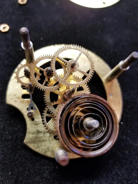 Antique Dashboard Clock - Internals