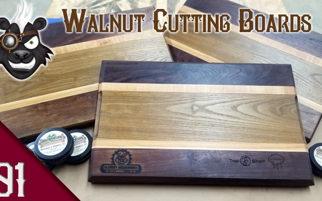 Walnut and Sassafras Cutting Boards