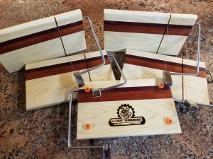 Cheese Slicer made from Maple, Purpleheart, and Bloodwood.