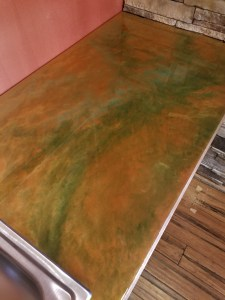 Copper Countertop built with Epoxy