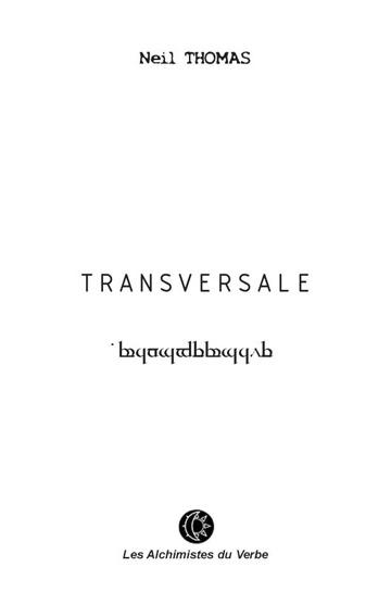 couverture poésie Transversale