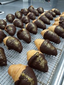 Chocolate Dipped Croissants
