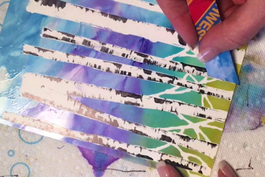 Creating Birch Trees Using Masking Pen