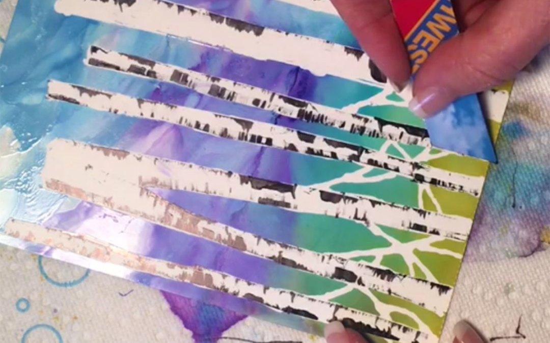 Painting Birch Trees Using Masking Pen (sneak peak)