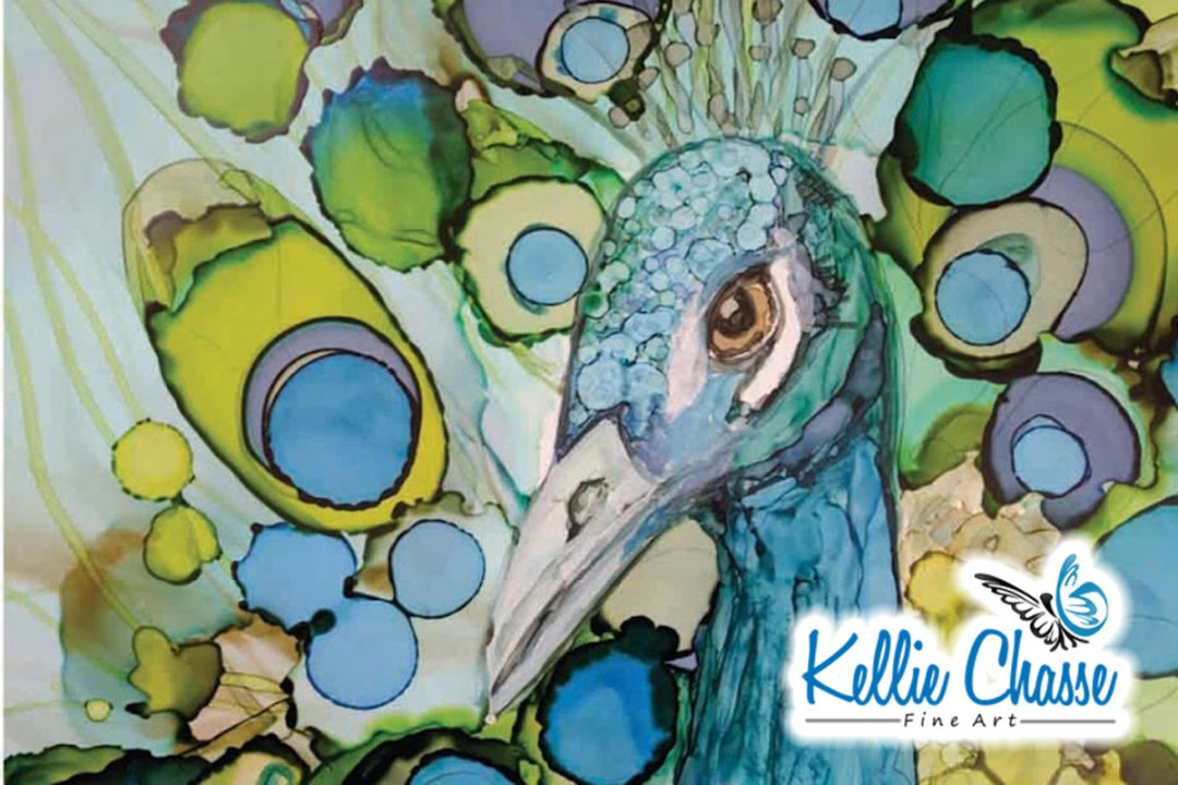 Peacock Feathers – Alcohol Ink Art Demo