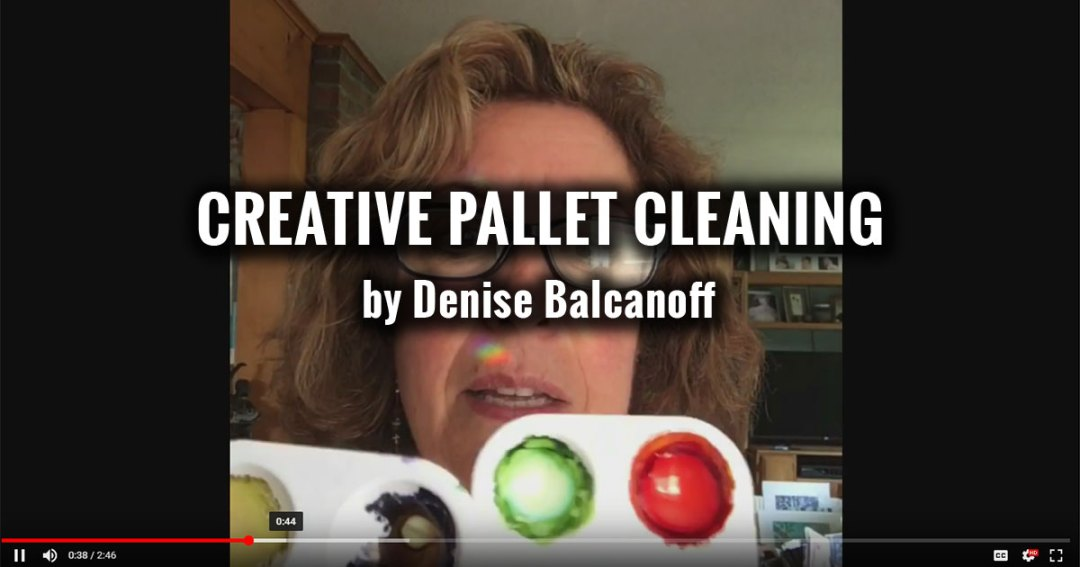 Creative Pallet Cleaning - Alcohol Ink Art Painting