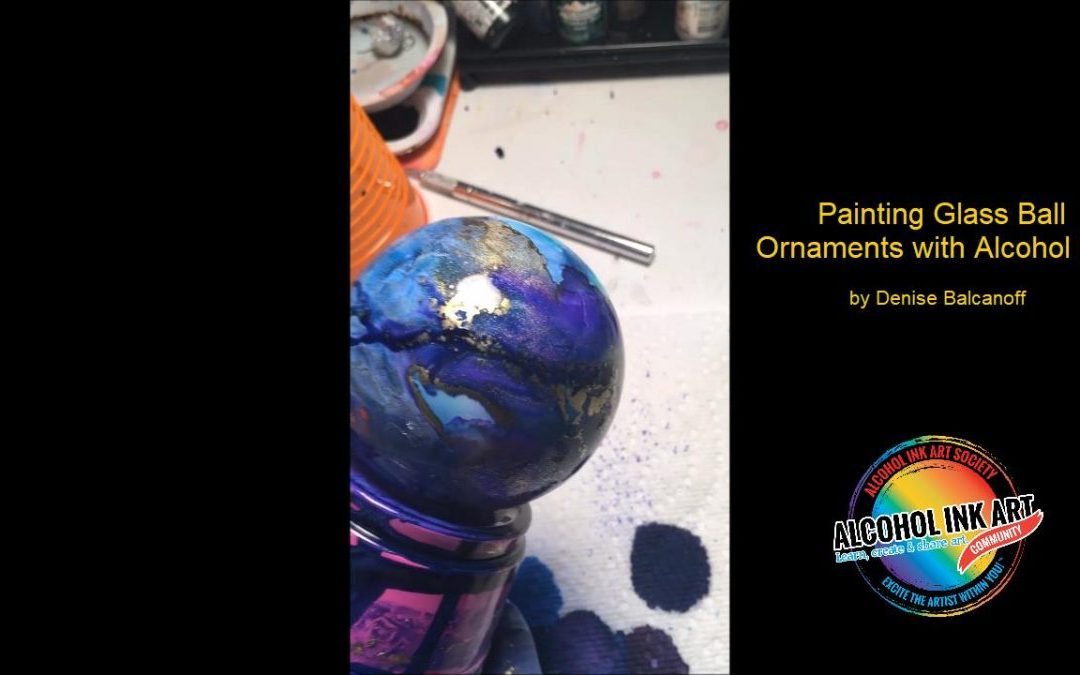 How to Paint Glass Ornaments with Alcohol Ink
